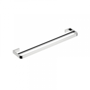 INIS DOUBLE TOWEL RAIL 800MM BRUSHED NICKEL
