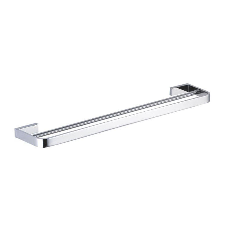 INIS DOUBLE TOWEL RAIL 800MM CHROME