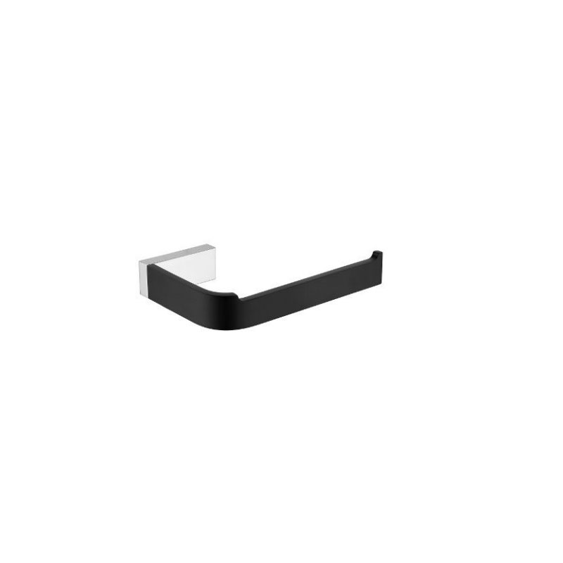INIS TOILET ROLL HOLDER MATTE BLACK CHROME