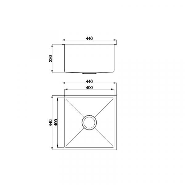 Buderim Single Bowl Stainless Steel Sink