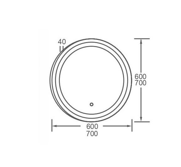 Corfu 600mm Round LED Mirror