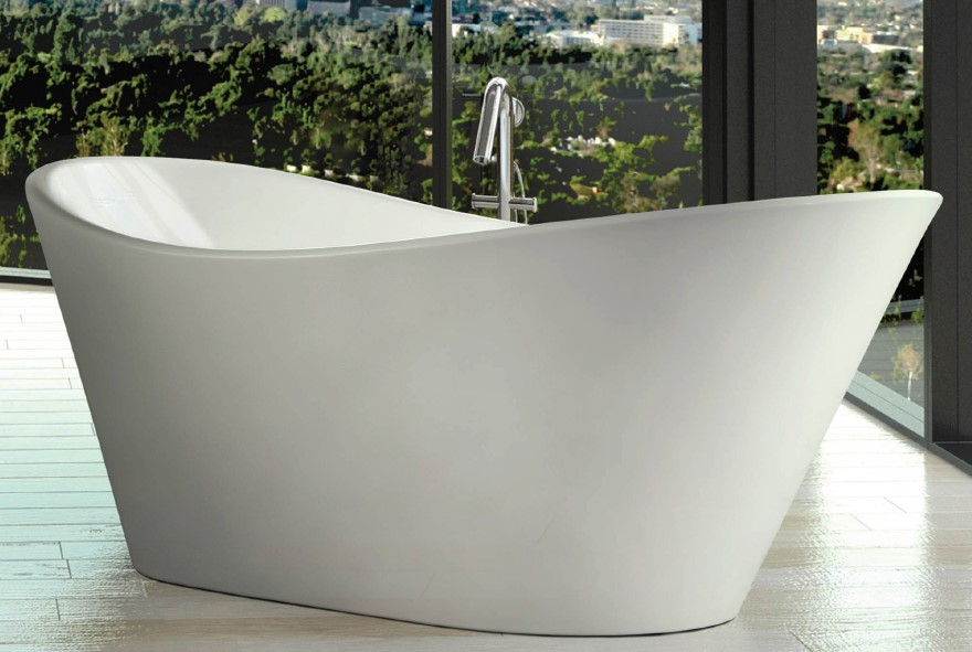 Decina Pisa 1800 Freestanding White Bath