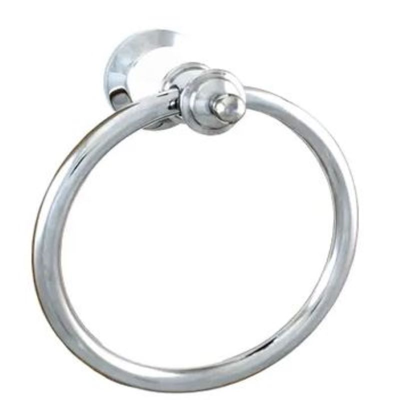 Ewing Pasadena Towel Ring Chrome with White Flange Bell
