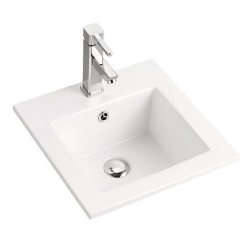 Grace Inset Ceramic White Basin