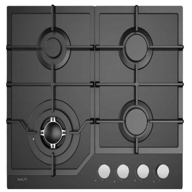Inalto 60cm Gas on Glass Cooktop with Wok Burner