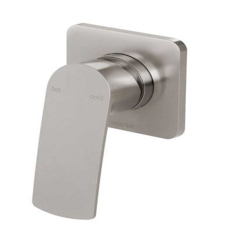 MEKKO SHOWER WALL MIXER BRUSHED NICKEL