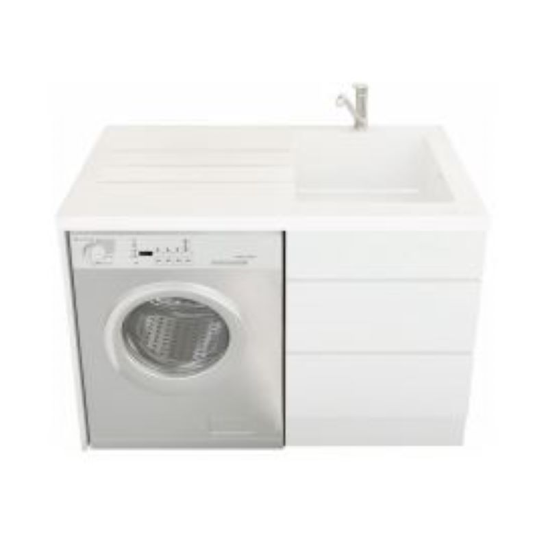 NUGLEAM ALL-IN-ONE LAUNDRY UNIT RIGHT HAND BOWL WITH ONE TAP HOLE