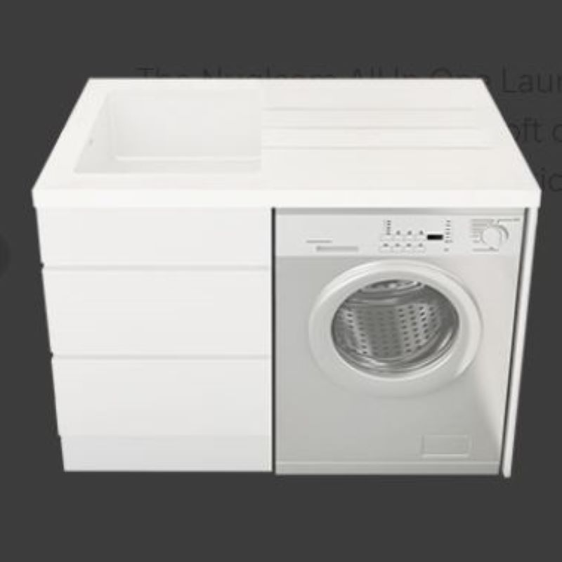NUGLEAM ALL-IN-ONE LAUNDRY UNIT WITH NO TAP HOLE