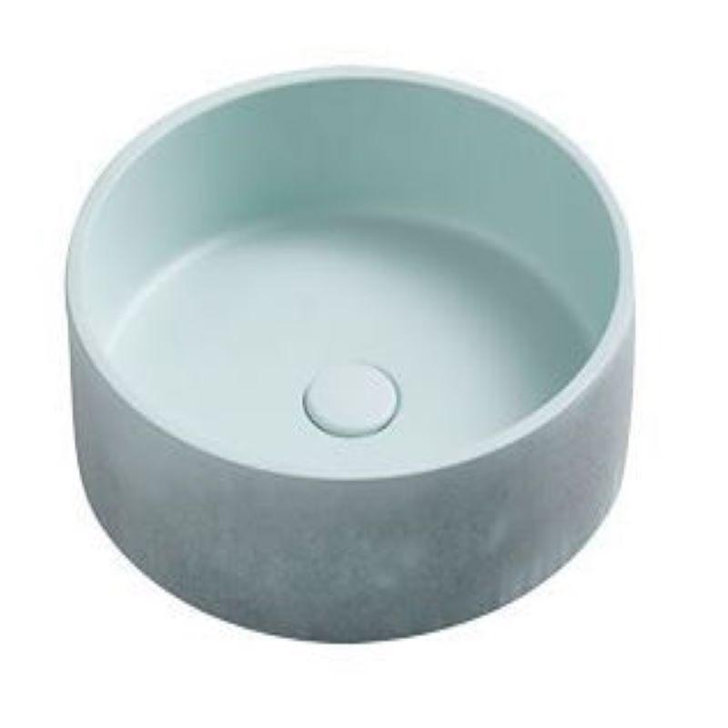 Perugia Concrete Pastel Mint Basin