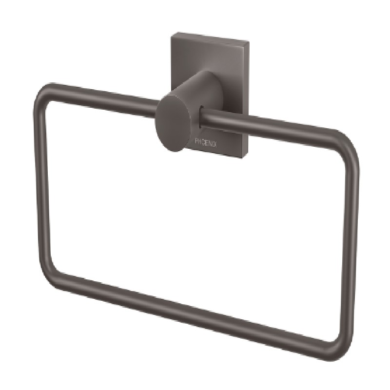 RADII HAND TOWEL HOLDER SQUARE PLATE GUN METAL