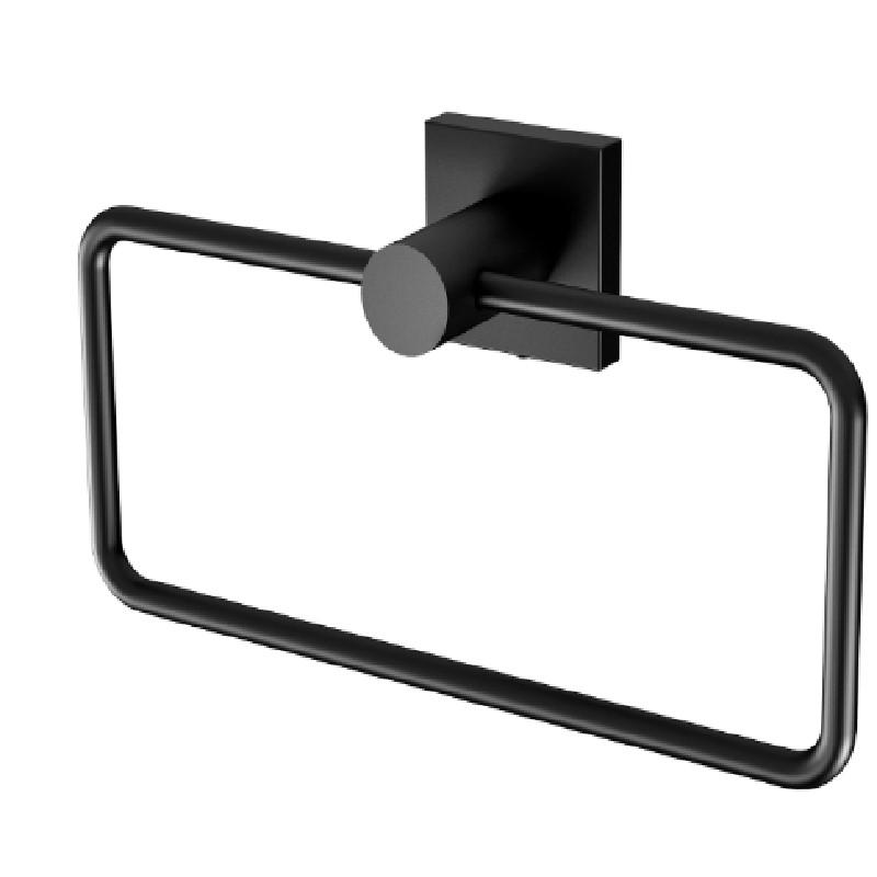 RADII HAND TOWEL HOLDER SQUARE PLATE MATTE BLACK