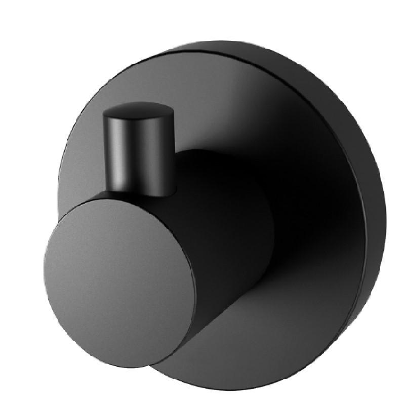 RADII ROBE HOOK ROUND PLATE MATTE BLACK