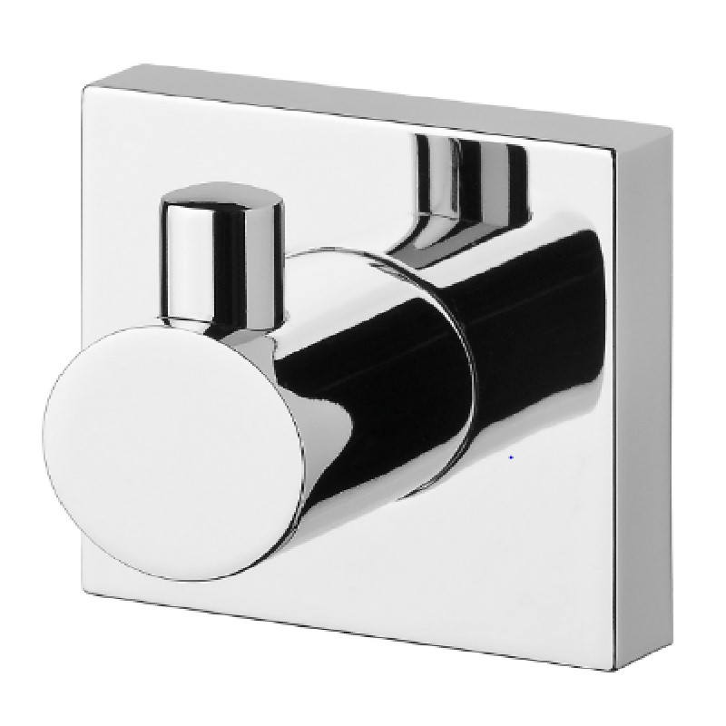 RADII ROBE HOOK SQUARE PLATE CHROME