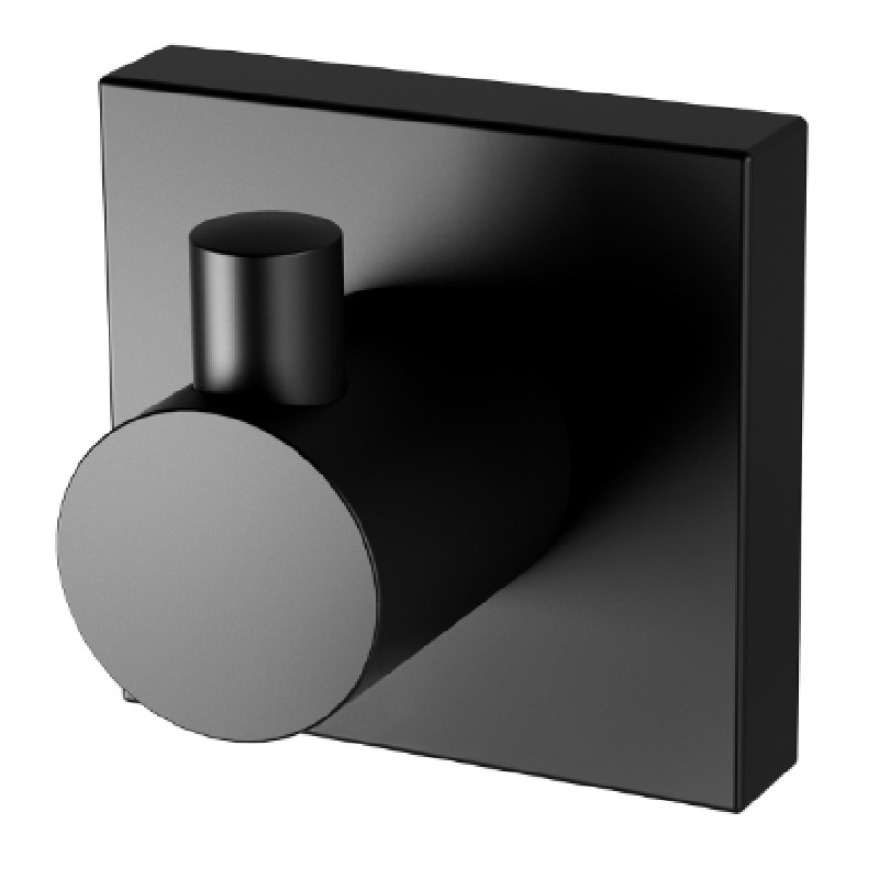 RADII ROBE HOOK SQUARE PLATE MATTE BLACK