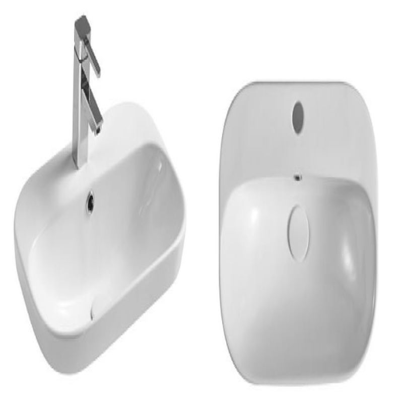 Symi 515 Semi Inset White Basin