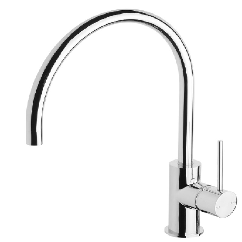 VIVID SLIMLINE 220MM GOOSENECK SINK MIXER CHROME