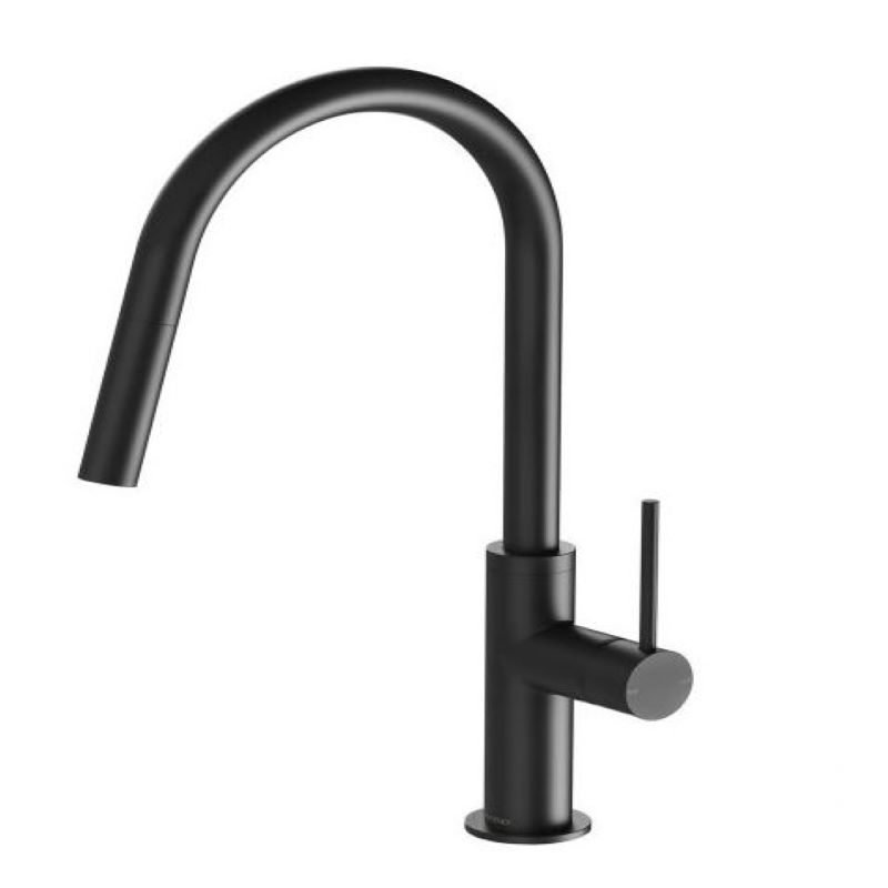 VIVID SLIMLINE PULL OUT SINK MIXER MATTE BLACK