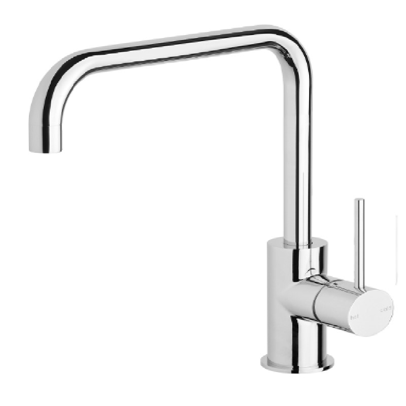 VIVID SLIMLINE 220MM SQUARELINE SINK MIXER CHROME