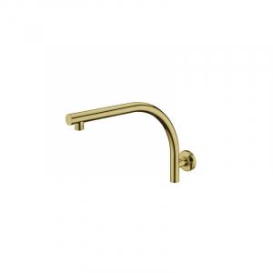 Bekken Corfu Curved Shower Arm 400mm Brushed Gold