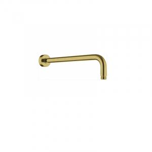 Bekken Corfu Overhead Shower Arm 400mm Brushed Gold