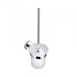 Bekken Kos Glass Toilet Brush Holder Chrome